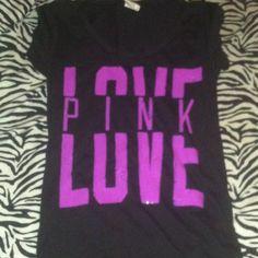 sequin pink top worn once great condition Victoria's Secret Tops