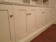 A sketch for two alcove wardrobes. Hand made shaker panel doors in ...