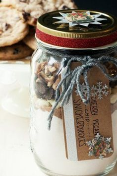 Start with Betty Crocker Snickerdoodle Cookie Mix, stir in some special add-ins, and add a personalized tag for a great gift idea!