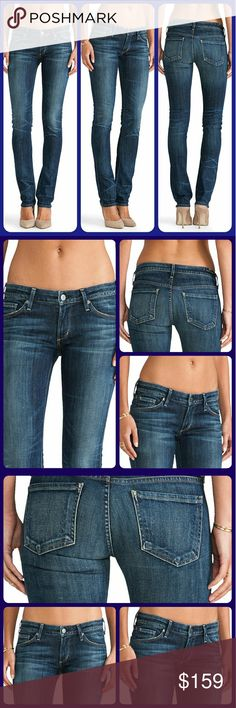🌈SOLD🦄 COH Citizens of Humanity JET jeans Patina Bnwt  *tags all together on 1 hanger lol back waistand tag musta fallen off store attached all together one 1 thingee!.pls see pic Citizens of Humanity jett Jeans htf esp brand new !  Marketed as a low rise slim straight ..these are essentially a skinny ..very similar to the racer style Coh jeans  IN PATINA wash very htf ahhhsome wash  Pls see collage pic 4 Creasing details / wear patterns behind knees  as well abrasions /distressing at leg…