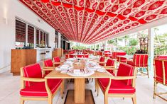 Commercial Interiors. Los Fuegos by Francis Mallmann, Faena Hotel, Miami Beach. Designers: Baz Luhrmann and Catherine Martin.