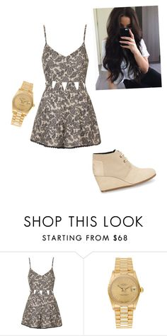 """""""Untitled #1833"""" by vireheart ❤ liked on Polyvore featuring Topshop, Rolex and TOMS"""