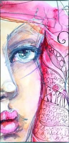 Miss quoted – jane davenport jane davenport watercolors, mixed media faces, mixed media art Mixed Media Faces, Mixed Media Art, Jane Davenport Watercolors, Art Sketches, Art Drawings, Art Journal Pages, Art Journaling, Journal Sample, Drawn Art