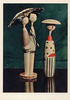 Japanese Folk Toy Type Doll Kokeshi Vintage by SanctaSimplicitas