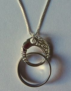 Magic Ring Holder Necklace Wedding Engagement Ring Holder Pendant
