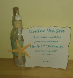 Under the Sea Invitation in a bottle