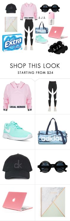 """Sports"" by officialajaxxx ❤ liked on Polyvore featuring beauty, Local Heroes, NIKE, adidas, Valfré, Topshop and Chanel"