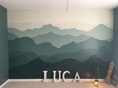 Mountain mural nursery wall!