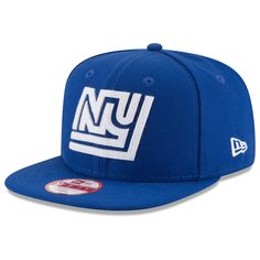818d587322f Men s New York Giants New Era Royal Retro Logo Original Fit 9FIFTY Snapback  Adjustable Hat