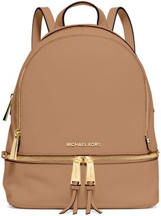 Michael Kors Camel Leather Backpack SS-2015 #StylishBackpack #MKBags