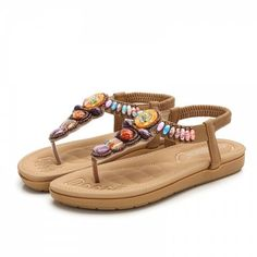 New Bohemian Sandals for Summer 2019 - Blanched Almond - 5352171928 - Shoes, Women's Shoes, Women's Sandals # # Flat Gladiator Sandals, Open Toe Sandals, Women's Sandals, Online Shopping Shoes, Shoes Online, Lacoste Shoes Women, Bohemian Sandals, Chunky Heel Ankle Boots, Blanched Almonds