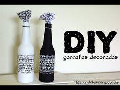 DIY Garrafas Decoradas - YouTube