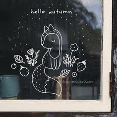 Window Markers, Chalk Pens, Window Art, Marker Art, Hello Autumn, Mandala, Windows, Drawings, Christmas