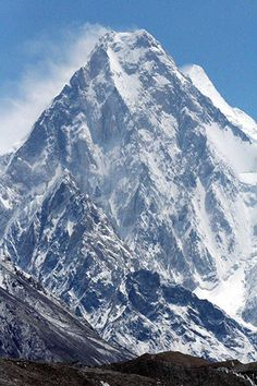 K2, The World's 2nd Highest Mountain at 28,251 feet in the Himalayas on the border between Pakistan and China