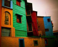 La Boca colorful neighborhood in Buenos Aires, Argentina