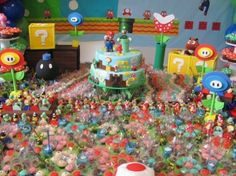 Mario rules the candy kingdom.