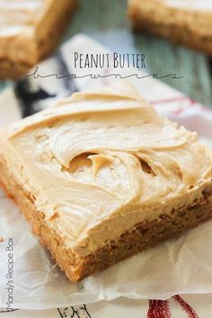 These Peanut Butter Brownies are perfectly soft and chewy full of peanut butter flavor. The frosting is just amazing and can be used on many different desserts.