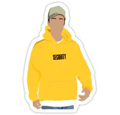 Justin Bieber con capucha de Seguridad • Also buy this artwork on stickers, phone cases y home decor.