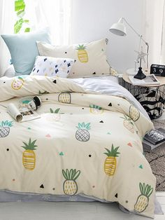 Teen Girl Bedrooms, visit the completely snug decor project immediately, info 8707522602 Kids Bedroom Sets, Teen Girl Bedrooms, Teen Bedding, Bedding Sets, Chic Bedding, Modern Bedding, Pineapple Room Decor, Pinapple Decor, Bed Sets