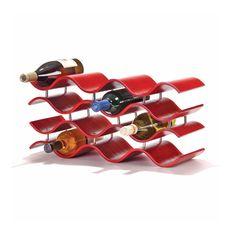 Bali Waves 12 Wine Rack in Crimson | dotandbo.com