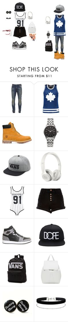 """Simple Dimples"" by kennedyann1 on Polyvore featuring Scotch & Soda, Timberland, Citizen, Vans, Beats by Dr. Dre, Boohoo, River Island, NIKE, 21 Men and Mansur Gavriel"