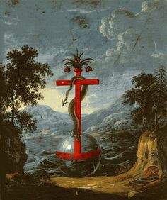 Snake women, dragons and other esoteric imagery from the alchemical manuscript 'Clavis Artis' Masonic Symbols, Ancient Symbols, Globus Cruciger, Tarot, Occult Art, Religious Images, Illuminated Manuscript, Sacred Geometry, Alchemy