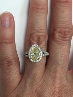 3259.00  2-06-Carat-Pear-Cut-Natural-Fancy-Yellow-Diamond-Engagement-Ring-18k-White-Gold