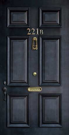 Classic Old sherlock holmes 221b door iPhone 4 4s 5 5c, ipod, ipad, tshirt, mugs and pillow case Art Print