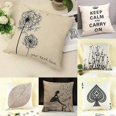 Simple Fashion linen Throw Pillow Cases Home Decorative Cushion Cover Square