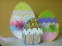 Easter Eggs Wood Crafts