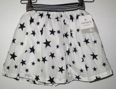 - Carter's white skirt with navy stars - size 4T - brand new with tags - 100 % cotton - 30 NIS www.clothingcloset.co.il