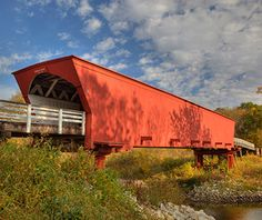 Roseman Bridge - just as I imagined it in the novel. Visiting the covered bridges of Madison County has been added to my Bucket List - Roseman Covered Bridge (the bridge from The Bridges of Madison County), Winterset, IA Yosemite National Park, National Parks, Madison County, Covered Bridges, Travel And Leisure, Architectural Digest, Trip Advisor, Places To Go, Around The Worlds