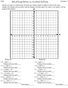 Coordinate Plane Worksheets 6th Grade