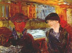Jack Butler Yeats, The Bus by the River Expressionist Artists, Expressionism, Irish Painters, Jack B, William Butler Yeats, Irish Culture, Irish Art, Contemporary Paintings, Figurative Art