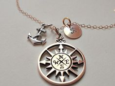 Bronze compass necklace gold filled by SterlingStarDesigns on Etsy, $34.00