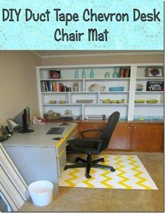 Merveilleux Chevron Chair Mat DIY