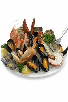 Three Dressings for Fruit de Mer The French call it 'Plateau De Fruits de Mer', we know it as seafood platter Shrimp Recipes, Fish Recipes, Uk Recipes, Tasty Fish Recipe, 10 Minute Meals, Seafood Platter, Fish Dishes, Fish And Seafood, International Recipes