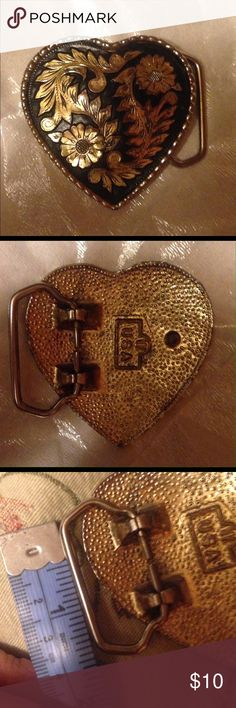"NWOT Western belt buckle Black n gold measures 2.5 X 2.5sill take a belt about 1.5 "" wide Accessories Belts"
