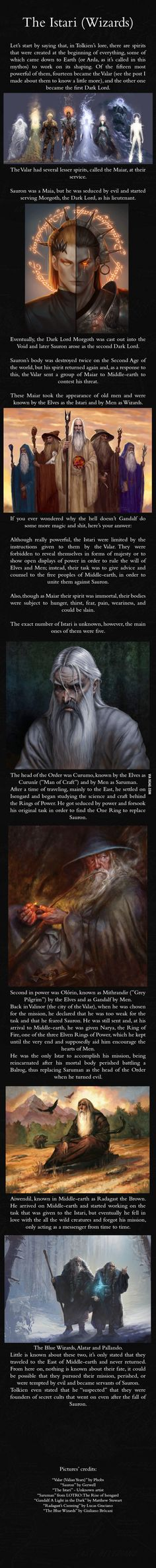 The wizards of Middle Earth, origins Lord of the Rings LOTR J R R Tolkien the Silmarillion