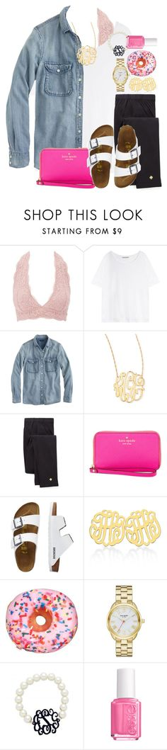 """""""i 🍩 know what to caption this"""" by preppy-southern-gals ❤ liked on Polyvore featuring Charlotte Russe, Acne Studios, J.Crew, Jennifer Zeuner, Kate Spade, TravelSmith and Essie"""