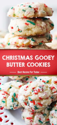 dessertfoodrecipes dessertrecipes desserttable christmas desserts cookies butter gooey CHRISTMAS GOOEY BUTTER COOKIESYou can find Desserts for christmas and more on our website Cookie Desserts, Holiday Desserts, Holiday Baking, Holiday Treats, Holiday Recipes, Cookie Recipes, Christmas Recipes, Snacks Recipes, Dessert Recipes