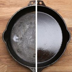 Epic and easy cleaning hacks, tips, and tricks you will find handy. Season Cast Iron Skillet, Cast Iron Skillet Cooking, Iron Skillet Recipes, Cast Iron Recipes, Skillet Meals, Cast Iron Skillet Burgers, Skillet Pan, Cast Iron Care, Cast Iron Pot