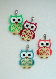 So cute! Owl Hama beads