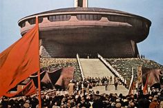 Buzludha is Bulgaria's largest ideological monument to Communism.Designed by architect Guéorguy Stoilov, more than 6000 workers were involved in its 7 year construction including 20 leading Bulgarian artists who worked for 18 months on the interior decoration
