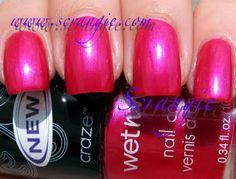 """wet n wild """"lust"""" - bright pink with purple flash"""