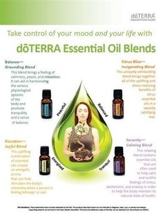 doTERRA for mood management - love balance, serenity, elevation, aroma touch, and citrus bliss!