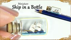 Hi guys! Today we're making this cute, miniature ship in a bottle :D I chose to…