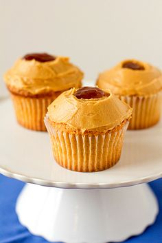 Brown Eyed Baker - Peanut Butter and Jelly Cupcakes