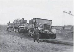 s.Pz.Abt.505 Famo towing a Tiger.