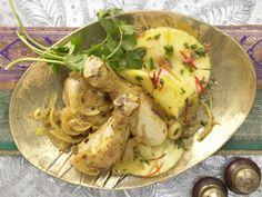 Indisches Gewürzhähnchen - mit Zwiebeln und Ananas - smarter - Kalorien: 604 Kcal - Zeit: 1 Std. 5 Min.   eatsmarter.de